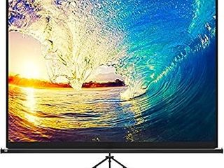 Projector Screen with Stand 120 inch   Indoor and Outdoor Projection Screen for Movie or Office Presentation   4 3 HD Premium Wrinkle Free Tripod Screen