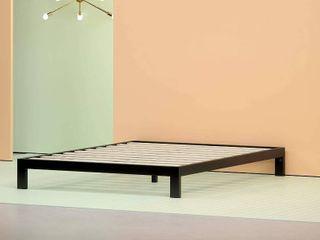 Zinus Arnav Modern Studio 10 Inch Platform 2000 Metal Bed Frame   Mattress Foundation   No Box Spring Needed   Wooden Slat Support   Good Design Award Winner  Queen