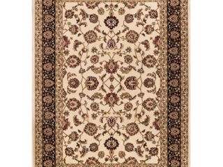 Well Woven Barclay Sarouk Traditional Oriental Ivory 2 3  x 3 11  Accent Area Rug