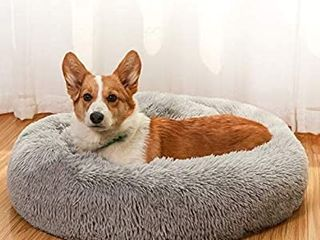 JEMA Dog Beds for Medium Dogs Donut Calming Dog Bed Washable  Comfortable Round Cute Durable Pet Beds with Removable Pillow