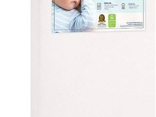 Graco Premium Foam Crib and Toddler Mattress GREENGUARD Gold Certified  Non Toxic  Breathable  Removable Washable Outer Cover