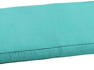 Mozaic AMZCS108550 Indoor or Outdoor Sunbrella Bench Cushion with Corded Edges and Tie Backs  60 in W x 18 in D  Canvas Aruba
