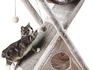 gray foldable cat scratcher