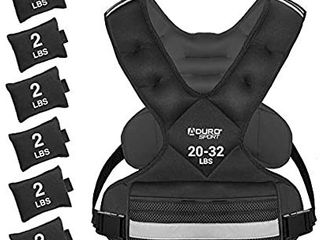 Sport Adjustable Weighted Vest Workout Equipment  20lbs 32lbs Body Weight Vest