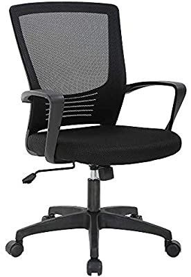 black home or office swivel chair   SOlD AS