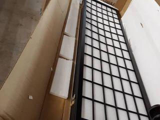 Asian inspired Style 4 Panel Folding Screen   Black white