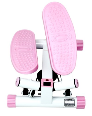pink and white sunny and health and fitness stepper