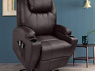 Jc Home Sabadell Wall hugger Power lift Recliner With Faux leather Upholstery