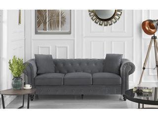 Divano Roma Classic Sofas  large  Grey