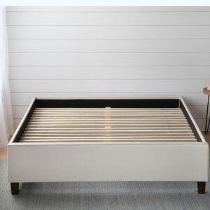 Zinus Modern Studio Platform 2000 Metal Bed Frame Mattress Foundation  no Boxspring needed  Wooden Slat Support  King