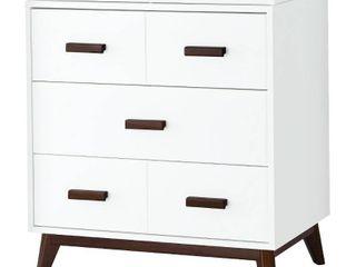 Babyletto Scoot 3 Drawer Changer Dresser   White Walnut