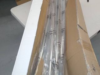 Box Of 10 Adjustable Closet Rods 72  x 120    Not Inspected