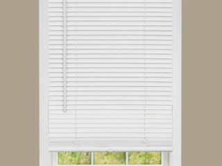 Designer s Touch White Cordless light Filtering Vinyl Blind with 1 in  Slats 23 in  W x 72 in  l   Box of 6   Not Inspected