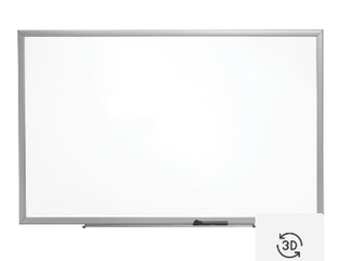 Standard Melamine Whiteboard Aluminum Finish Frame     5 x 3 Ft   Marker Included   Not Inspected