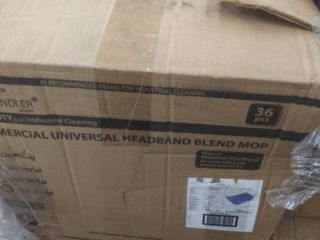 commercial universal headband blend mop  box of 36