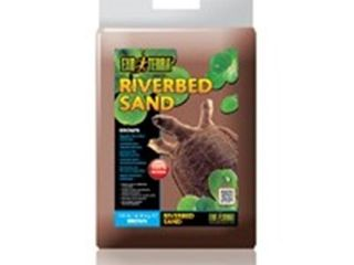 Exo Terra Riverbed Sand  10 Pound  Brown 3 bags  2 bags have been open and weight will vary