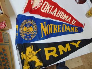 Army Notre Dam and OU Pennants