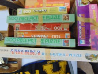 large assortment of Puzzles