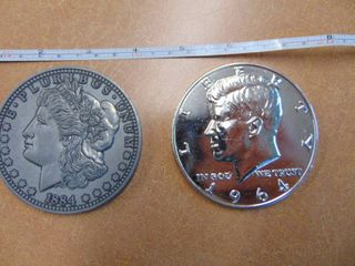 Pair of Metal Collectible Coins