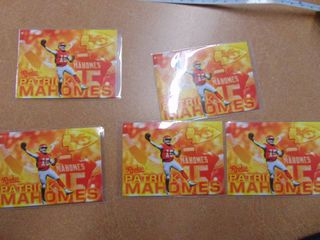 5 patrick Mahomes Rookie Cards