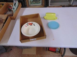 Hall Bowl and Melmac Butter Dish