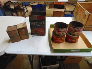 Vintage Coffee and Anti Freeze Tins