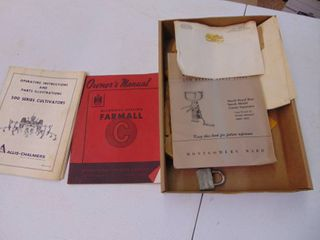 Vintage Implement Owners Manuals