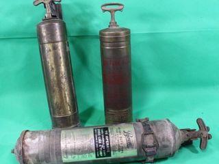Three Vintage Fire Extinguisher s