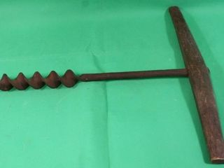 Vintage T Handle Hand Drill