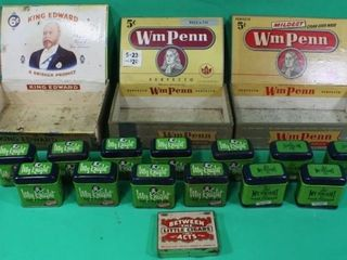 Cigar Boxes  Hair Pomade   Cigar Tins