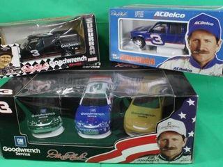 3 Dale Earnhardt Die Cast Cars   Suburbans