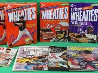 6 Sports Wheaties Cereal Boxes   Magazines