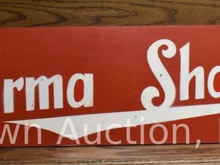 Burma Shave double sided wooden sign