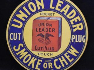Union leader Die Cut litho double sided advertising sign