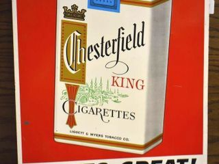Chesterfield King Cigarettes sst embossed advertising sign  CH 4