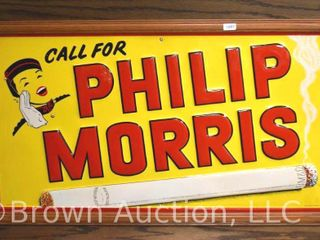 Call for Philip Morris  sst embossed advertising sign