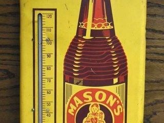 Mason s Old Fashioned Root Beer advertising thermometer
