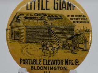 little Giant  Portable Elevator Mfg  Co  celluloid pinback button