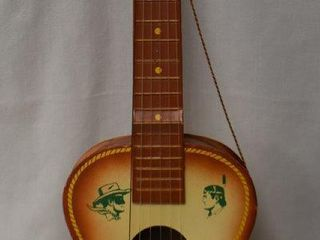 Vintage lone Ranger and Tonto guitar
