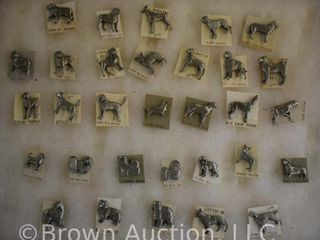 31  Pewter lapel pins   all dogs and all different breeds