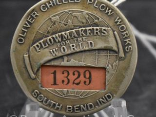 Oliver Chilled Plow Works employee badge