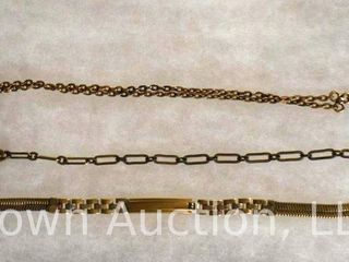 3  Pocket watch chains  gold filled