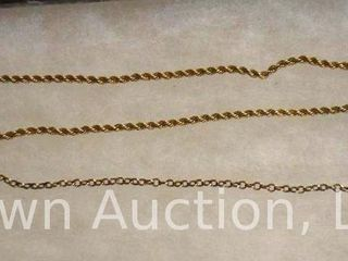 2  Pocket watch chains  gold filled
