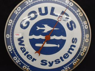 Goulds Water Systems  advertising thermometer