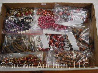10  Assorted costume jewelry necklaces  mostly colored beaded