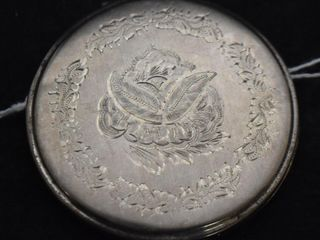 Vintage Mexico 925 Sterling silver powder compact