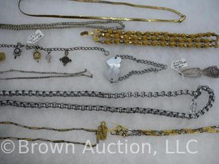 Assortment of jewelry  Necklaces  bracelets  chokers  etc