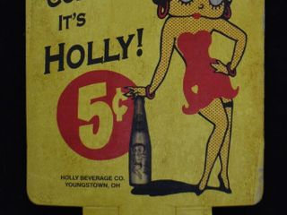 Holly soda cardboard advertising bottle topper display