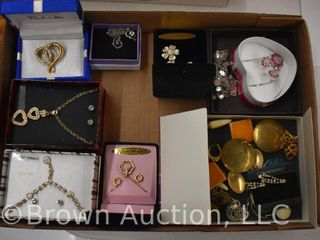 Assortment of jewelry   several earrings and necklace sets  etc