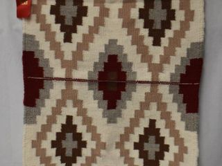 Southwest Native American style rug wall hanging  red brown tan gray white